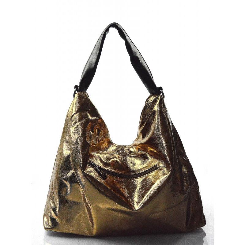 4b7e68468b moderní lesklá zlatá kabelka na rameno erin - KabelkyZeSveta