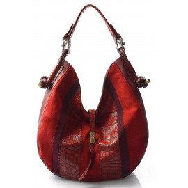 červená bordó designová filcová kabelka chanel