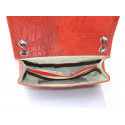 Kožené červené bordó psaníčko limet
