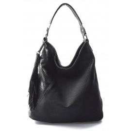 černá designová kabelka Mix