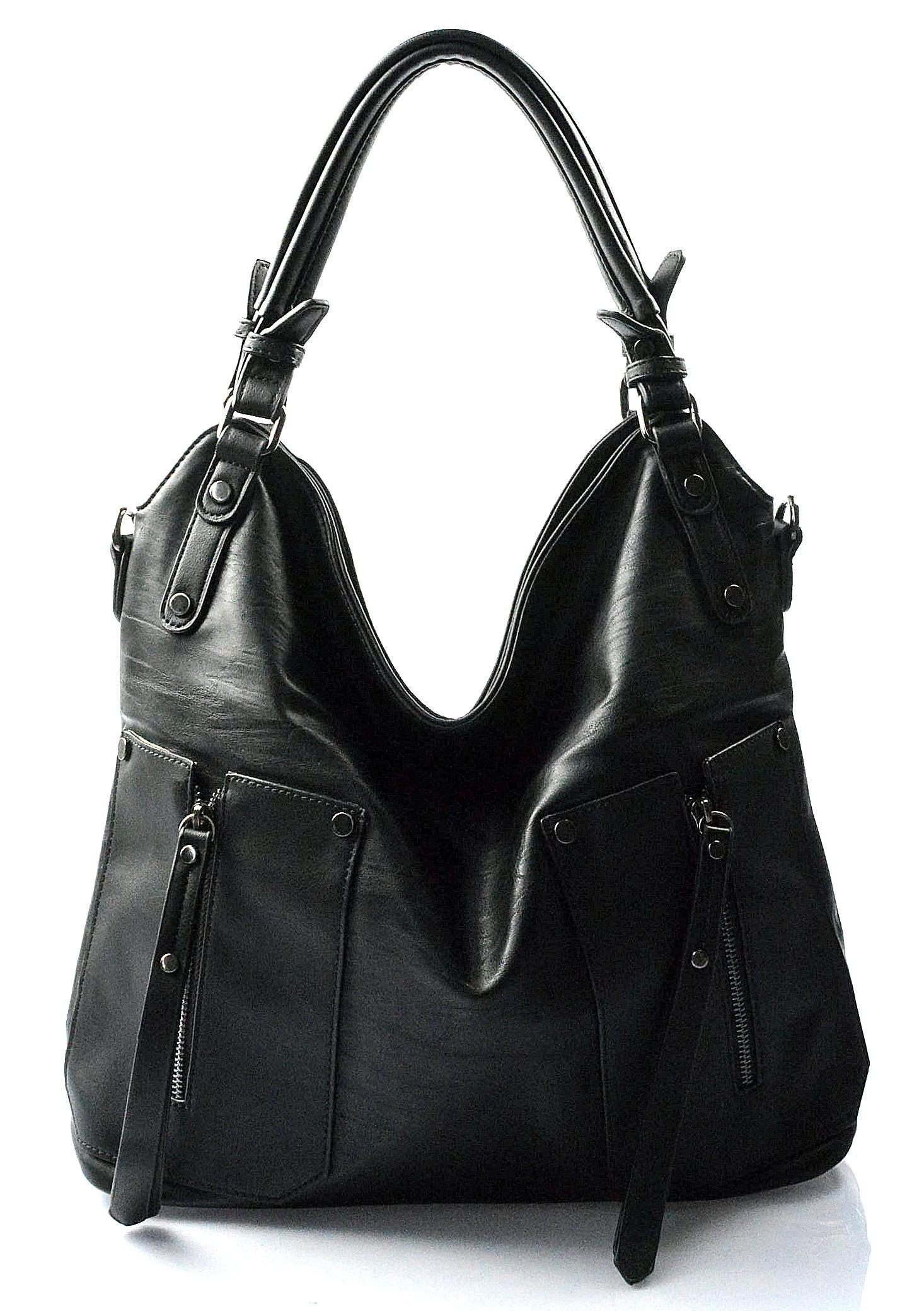 moderní černá kabelka miss