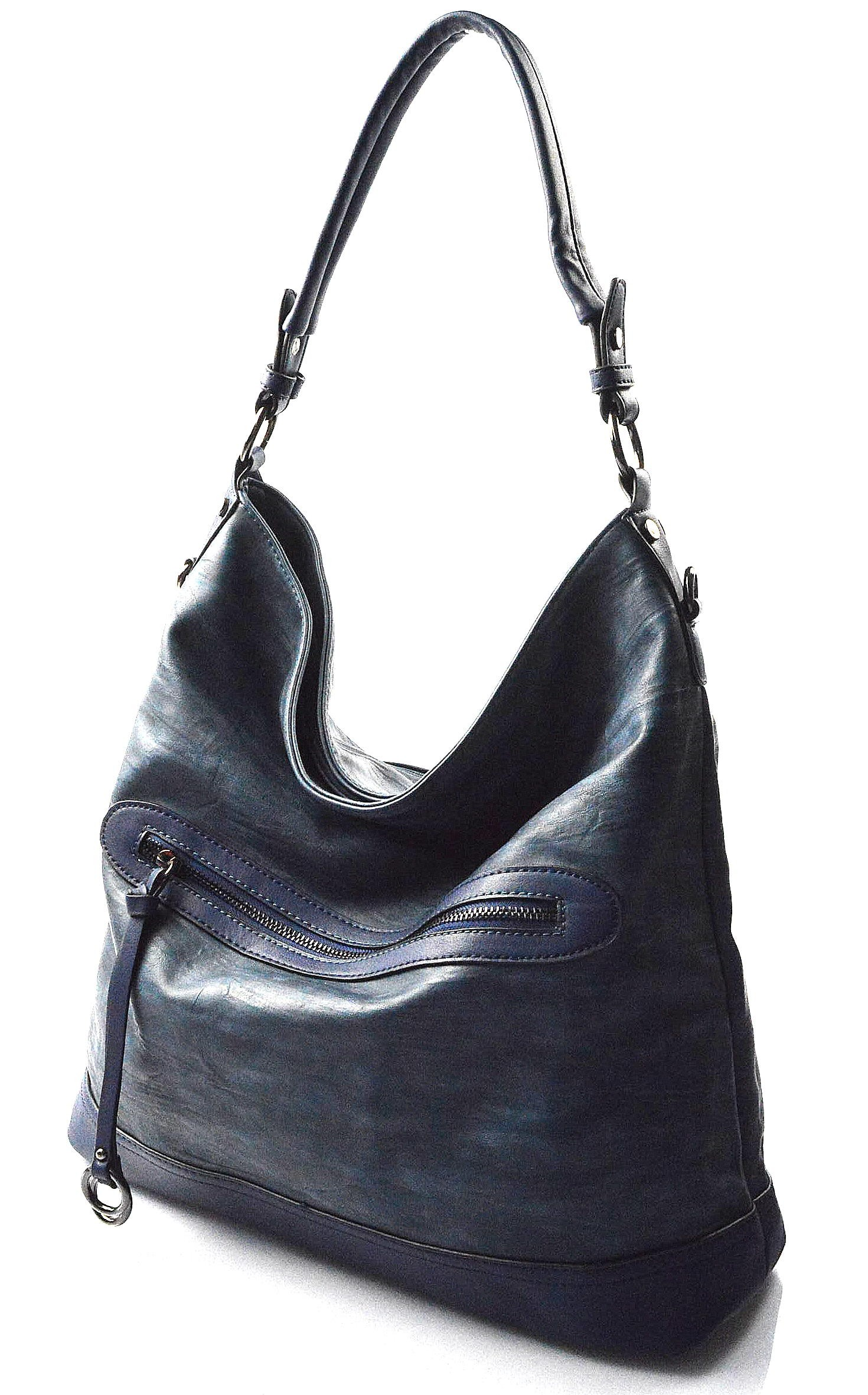 modrá kabelka na rameno Lilien
