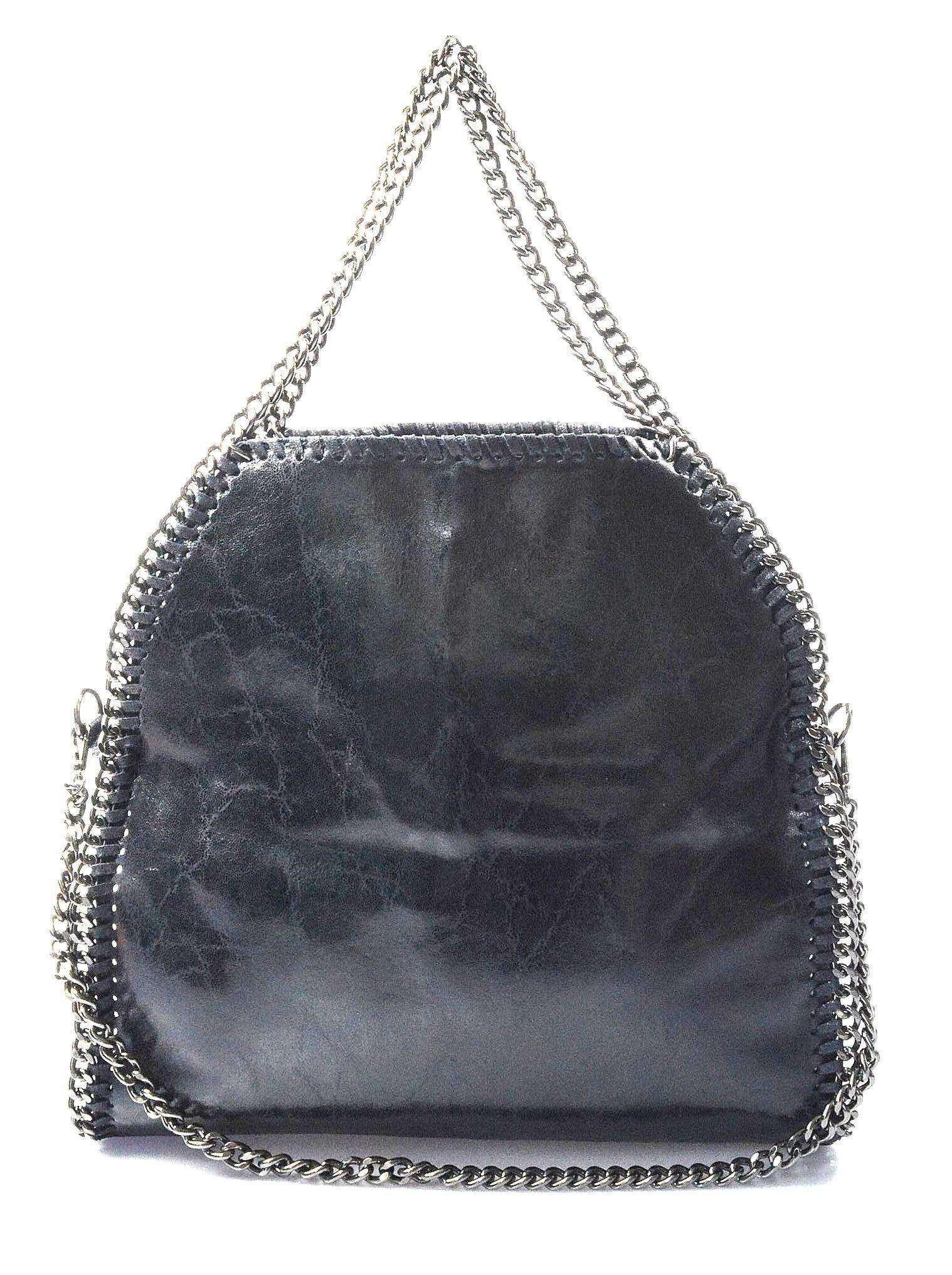 Kožená luxusní velmi tmavě modrá kabelka přes rameno brigite