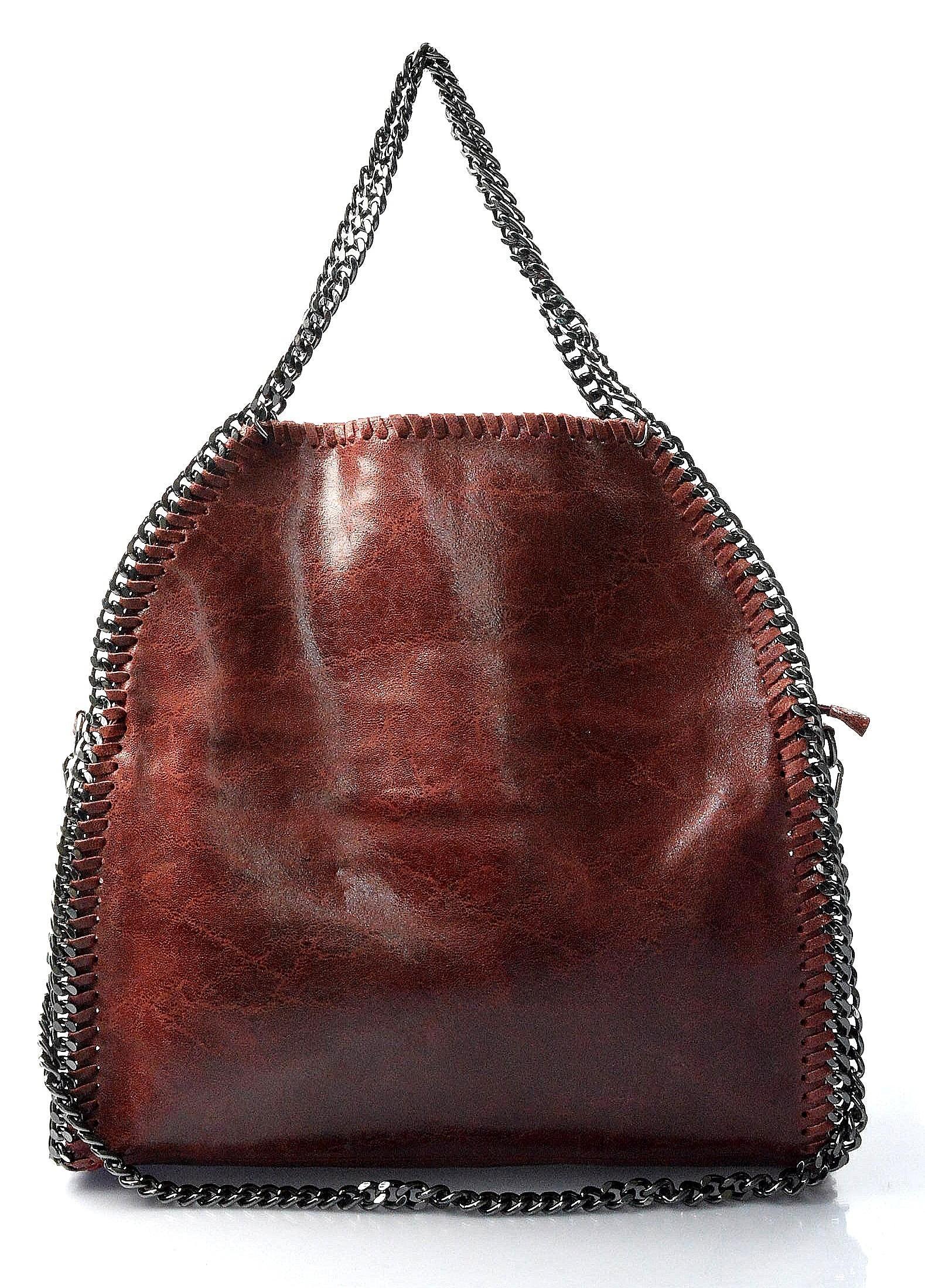 Kožená luxusní červená bordó kabelka přes rameno brigite