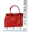Kožená luxusní zelená kabelka do ruky Aliste
