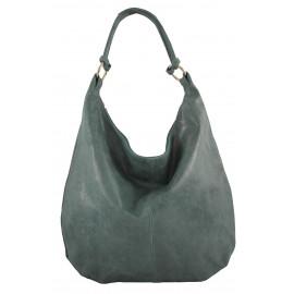 Kožená zelená taška na rameno relic