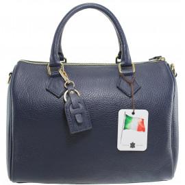 Kožená tmavě modrá kabelka do ruky Kinsley