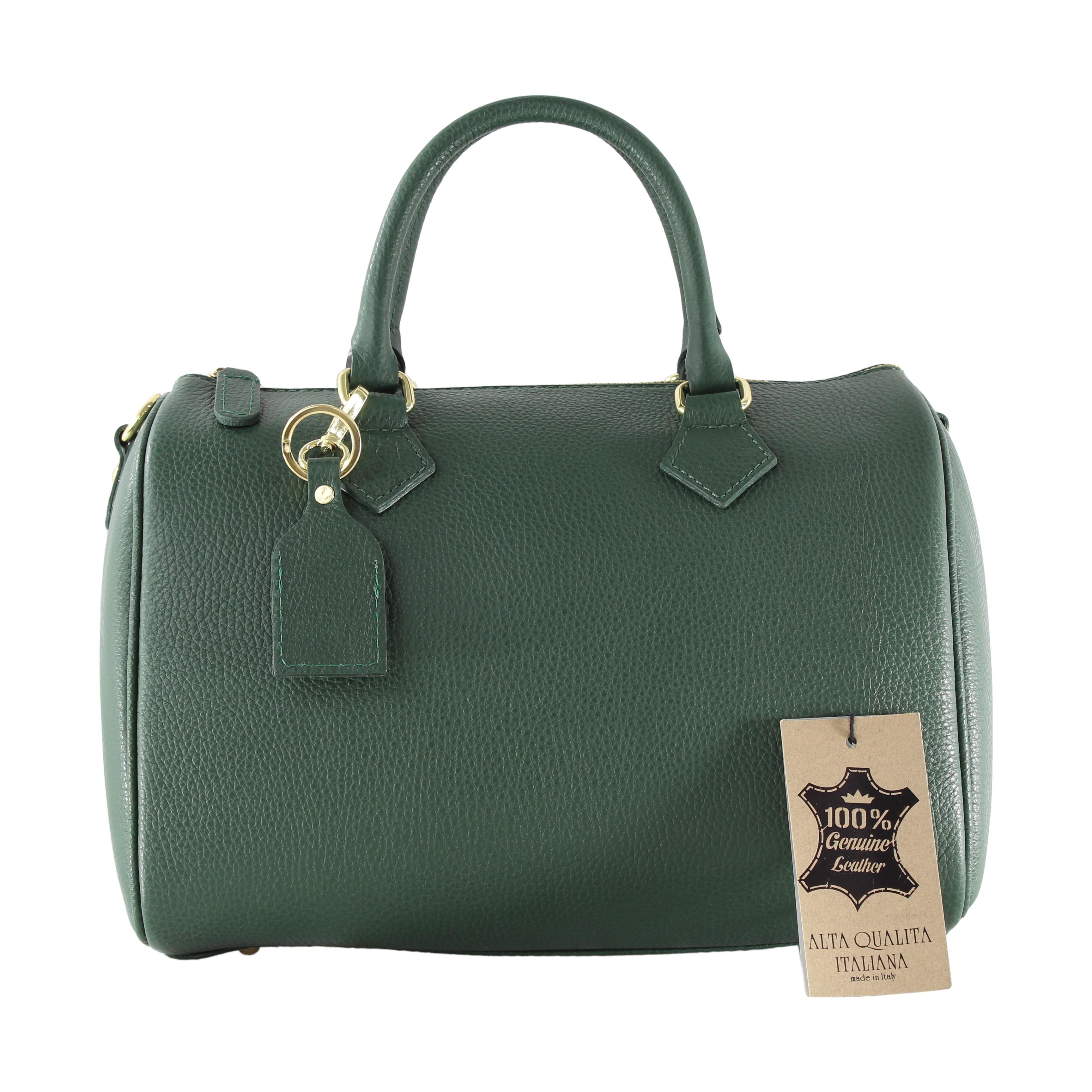 Kožená zelená kabelka do ruky Kinsley