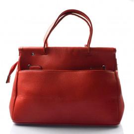 Červená módní kabelka do ruky Lorrie