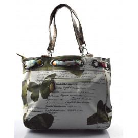 Bílá moderní vzorovaná shopper taška Beatrix