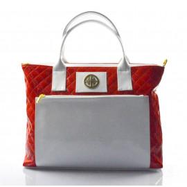 Velká elegantní červená kabelka Kaylie