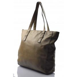 Velká hnědá shopper taška Evelyne