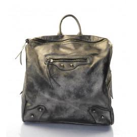 Stylový lesklý šedý batoh Marcos
