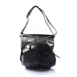 Větší černá kabelka přes rameno Cristine