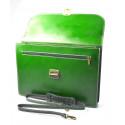 pánská zelená kožená aktovka Luke