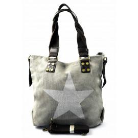 stylová moderní šedá taška na rameno military three
