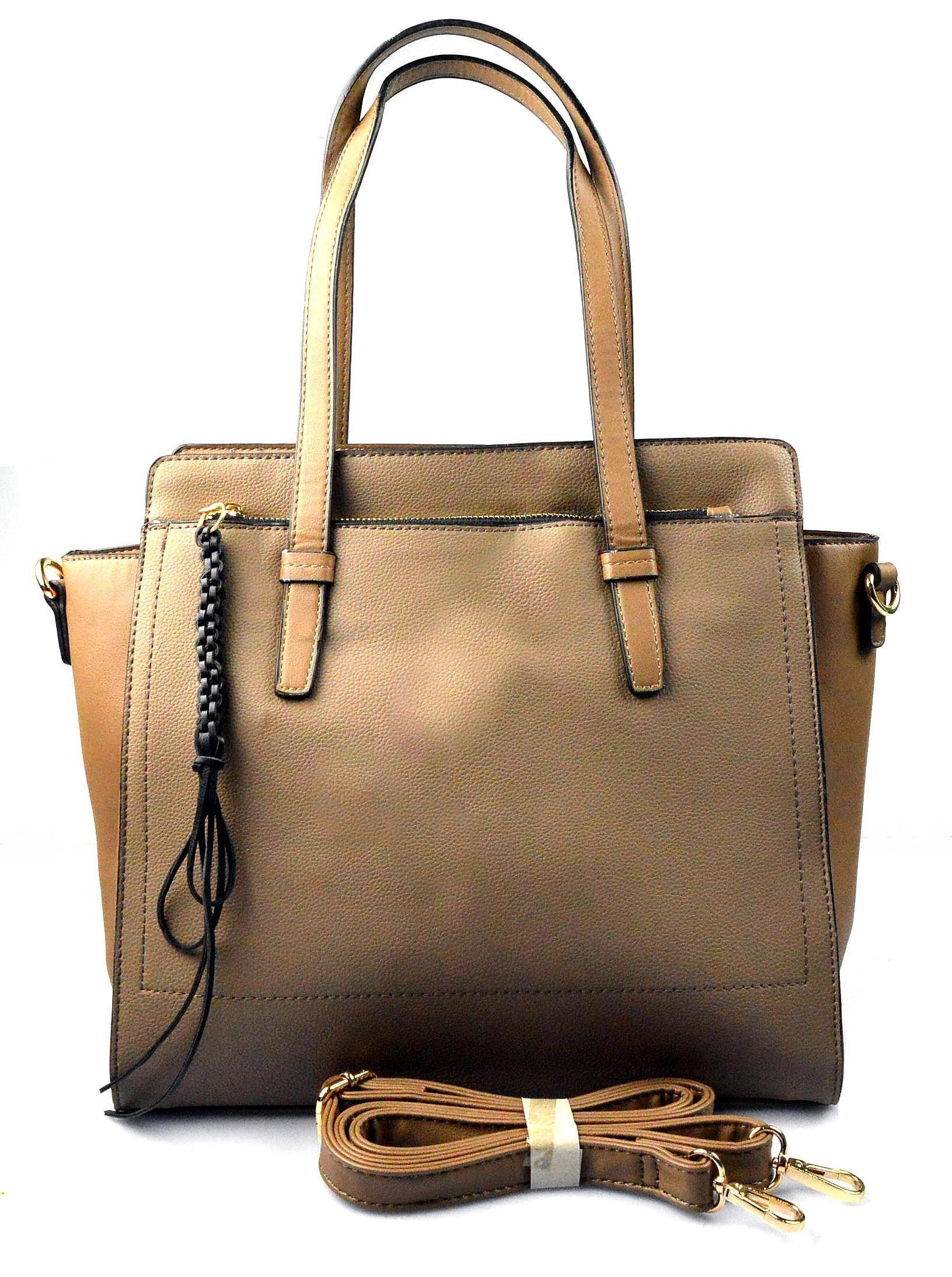 5cd7f18e71 krásná khaki hnědá kabelka na rameno rovane - KabelkyZeSveta