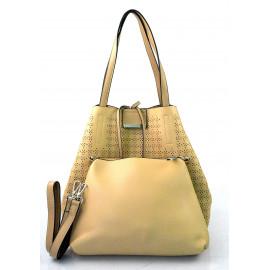 luxusní hnědá camel kabelka 2v1 nanci