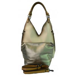 luxusní šedá kabelka 2v1 samantha