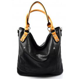 moderní černá shopper taška charlie two