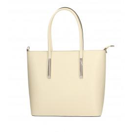 Kožená luxusní béžová kabelka přes rameno cherril