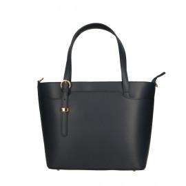 Kožená luxusní tmavě modrá kabelka přes rameno mirabelle