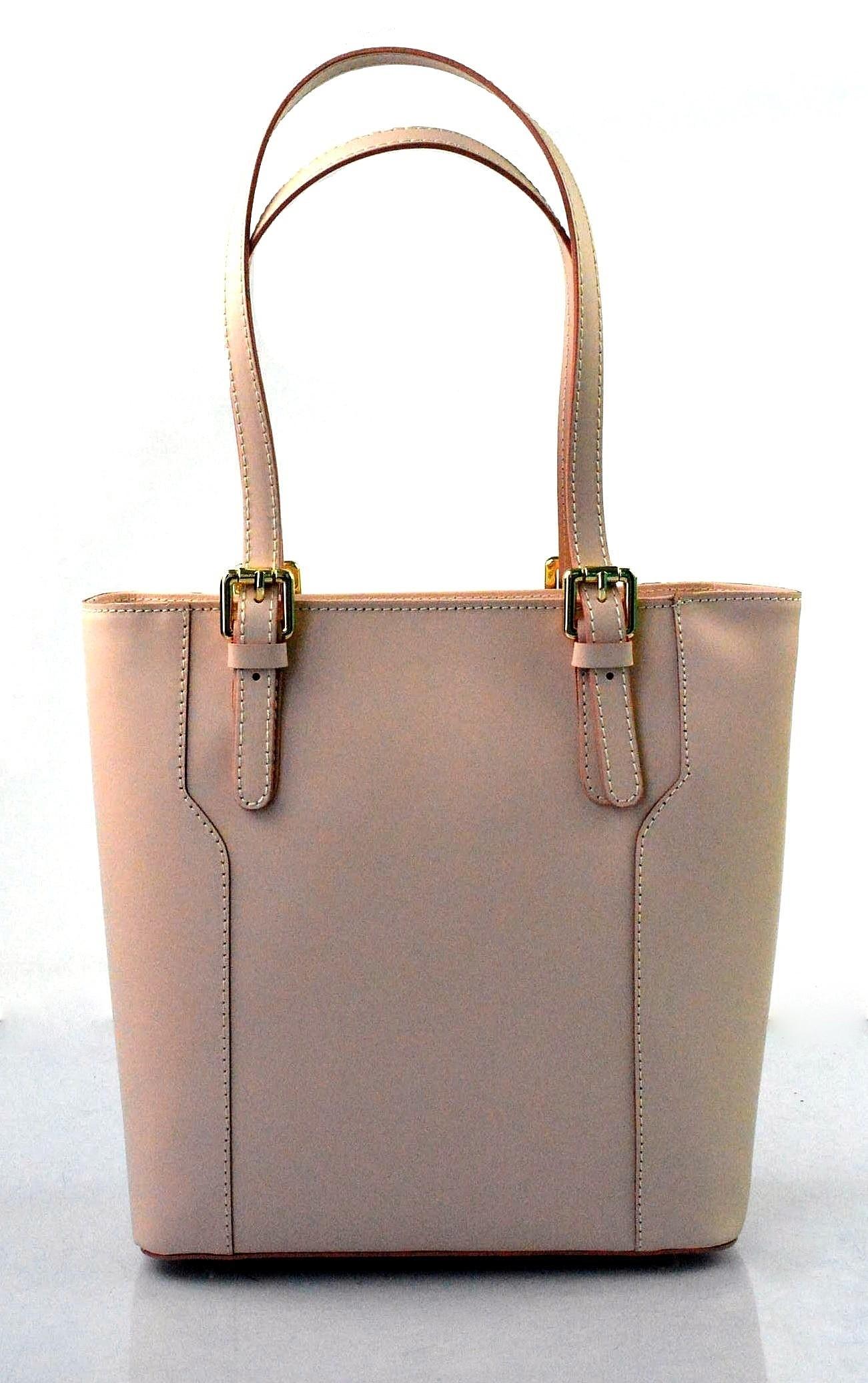 8fe7c29ba Kožená moderní vysoká světle růžová kabelka na rameno carine ...