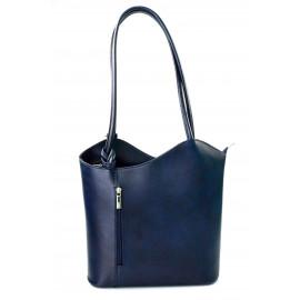 Kožená luxusní tmavě modrá crossbody kabelka Grand Royal