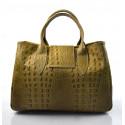 Kožená luxusní krokodýlí béžová taupe kabelka do ruky lila