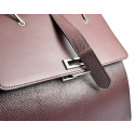 Kožená luxusní bordó vínová kabelka do ruky adeline