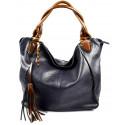netradiční tmavě modrá shopper taška different two