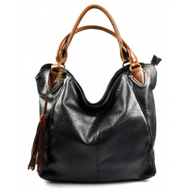 netradiční černá  shopper taška different two