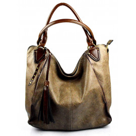 netradiční light camel shopper taška different two