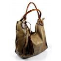 netradiční light camel shopper taška different two