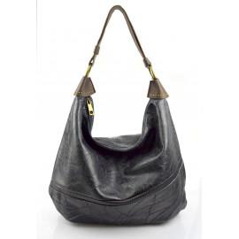Elegantní opravdu velká tmavě modrá volnočasová kabelka serena