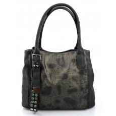 Elegantní menší černá designová kabelka sergi
