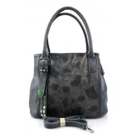 Elegantní menší tmavší modrá designová kabelka sergi
