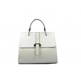Kožená luxusní sněhově bílá kabelka do ruky adeline