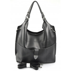 Velká moderní černá shopper taška Electra two