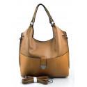 Velká moderní hnědá camel shopper taška Electra two