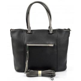 stylová černá kabelka cali three