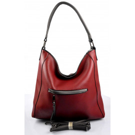 Elegantní bordó kabelka na rameno beata two
