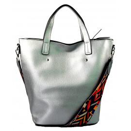 menší stříbrná shopper taška jayden