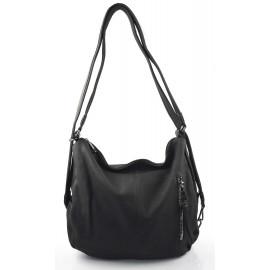 Praktická černá kabelka a batůžek v jednom Marry two