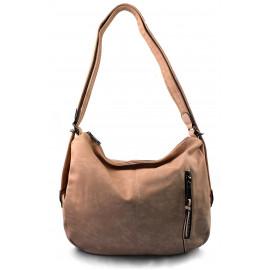 Praktická světle růžová kabelka a batůžek v jednom Marry two