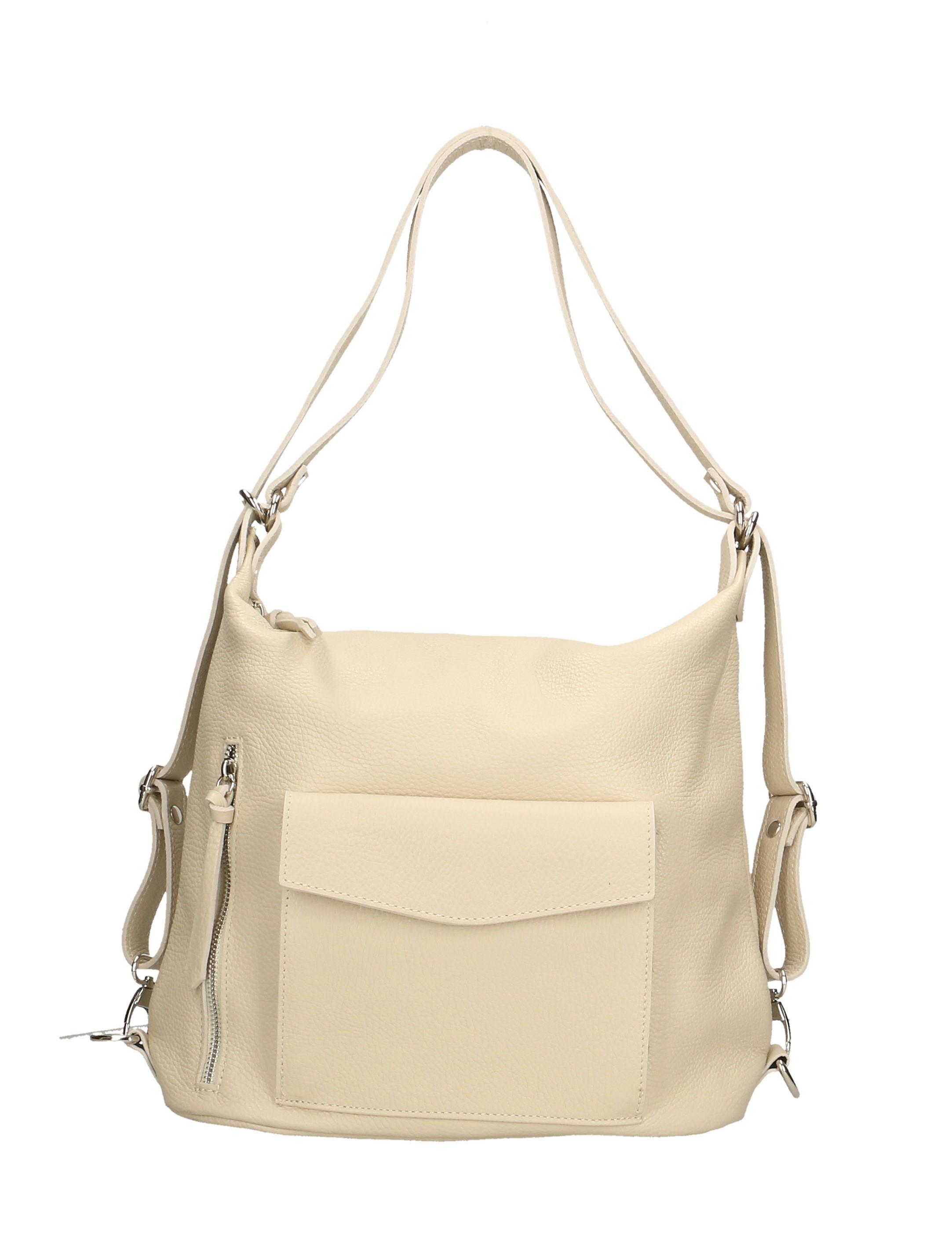 Nové Praktická kožená větší béžová beige kabelka a batoh v jednom karin abfc3bdb4d8