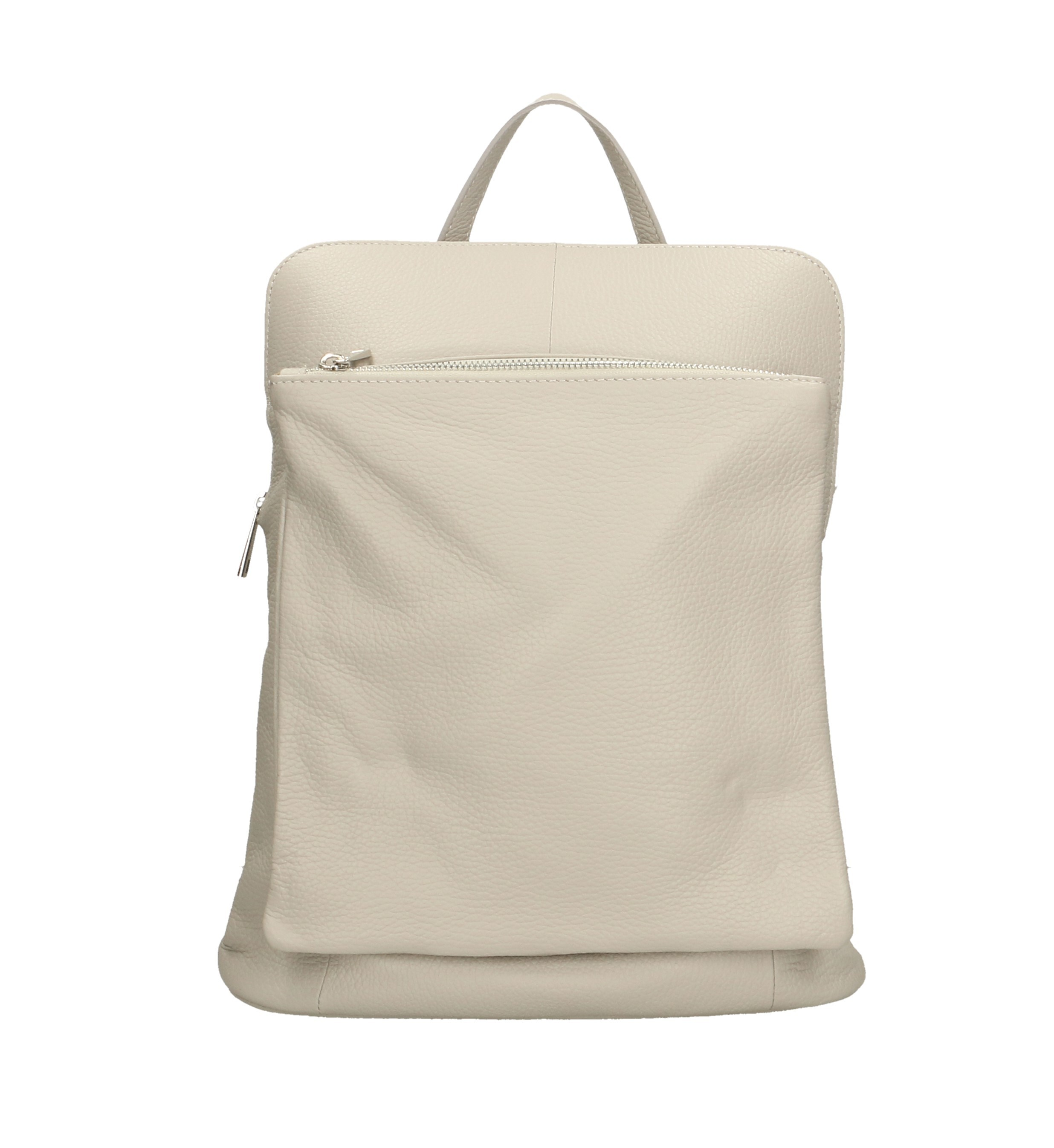Praktická béžová kožená kabelka a batoh 2v1 aveline