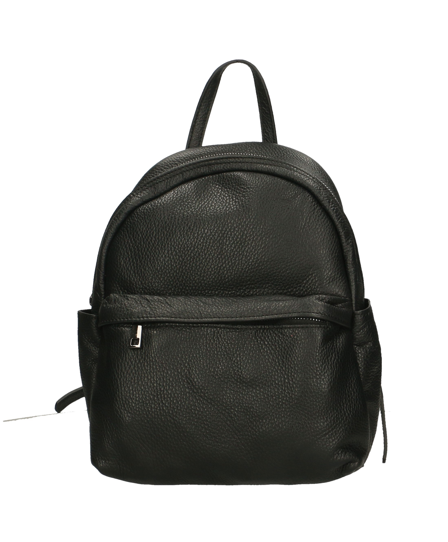 Praktický černý kožený větší batůžek tessi