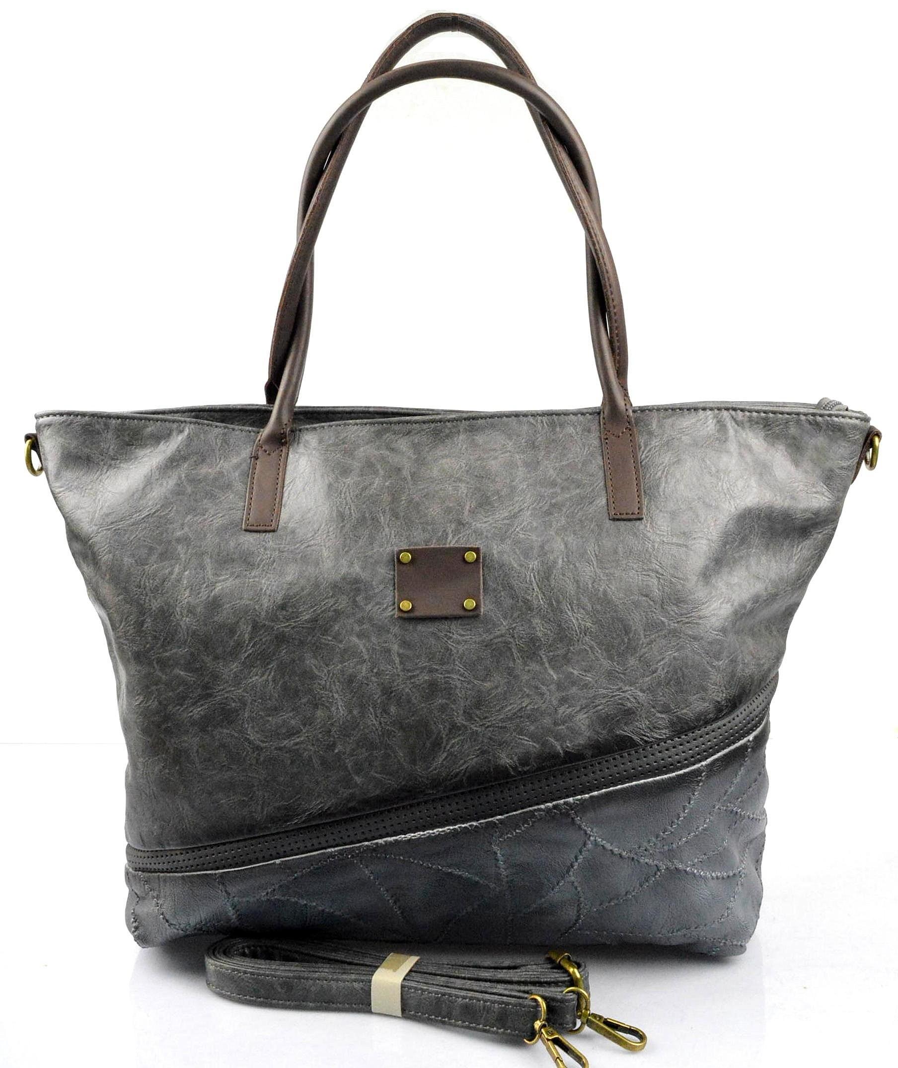 netradiční opravdu velká šedá bordó taška na rameno nova