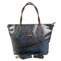 netradiční opravdu velká modrá bordó taška na rameno nova